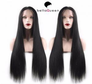 China StockSoftMalaysianMicroBraidedLongStraightFullLaceWigs Human Hair on sale