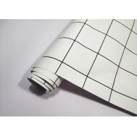 Buy cheap Square Modern Self Adhesive Textured Wallpaper White Base Black Lines from wholesalers