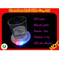 Buy cheap Good for hotel, bar personalized barware gifts - OEM novelty plastic LED flashing coaster from wholesalers
