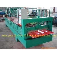 China High Speed Glazed Tile Cold Roll Forming Machine 0 - 20 m/min Red Roofing Panel or Customized on sale