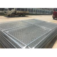 Buy cheap Carbon Steel Pipe Temporary Chain Link Fence Metal Fence Panels 6'X9.5' 2⅜X2⅜ from wholesalers