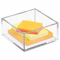 Buy cheap Customized Clear Lucite 4x6 Acrylic Brochure Holders / Paper Sticky Note Pad Holder from wholesalers