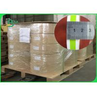 Buy cheap 120G 13.5 / 13.7 / 14MM Green Straw Paper With FDA Certificate Stripe Printing from wholesalers