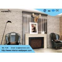 Buy cheap Interior Home Decoration 3D Brick Effect Wallpaper / Yellow Fake Brick Wall Covering from wholesalers