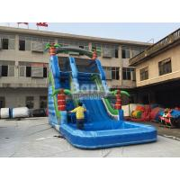 Buy cheap Summer Palm Tree Inflatable Outdoor Water Slide With Printing from wholesalers