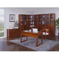 Buy cheap Nanmu solid wood Home office study room furniture set by Tall storage bookcase cabinet and office reading desk Chair product