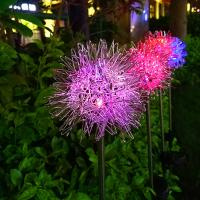 China Solar Powered Garden Stake Lights Outdoor Solar Powered Dandelion LED Stake Lights on sale