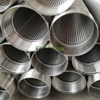Buy cheap wedge wire screen,V wire screen,  V wire wrap screen , V wire water well screen from wholesalers