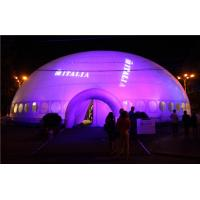 Buy cheap Giant Lighting Inflatable Tent , Inflatable Dome Tent Price product
