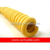 Buy cheap Abrasion Resistant Elastomer Jacketed Retractable Spiral Cable UL20057, UL20327, UL20618 from wholesalers