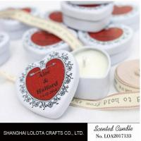 Buy cheap Heart Shaped Travel Tin Soy Candles With Red Printing Logo / One Cotton Wick from wholesalers