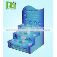 Blue Accepted Custom Logo Bulb Cardboard Counter Displays Easy To Assemble
