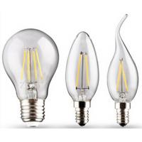 Buy cheap Edision COB lamp LED Filament Bulb Candle Light E27 E14 End Cap Glass cover from wholesalers