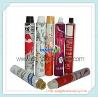 Buy cheap Printed Empty aluminum tubes 3C-5C printing, white enamel, different color lid from wholesalers