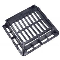 China Medium Duty 25 Tonne Load Rating Hinged Ductile Iron Dished Gully Grating 300MM X 300MM Opening on sale