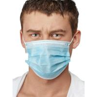 Buy cheap Blue Color Earloop Procedure Masks , 3 Ply Surgical Mask Free From Foreign Smell from wholesalers
