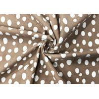 Buy cheap 140GSM 100 Percent Polyester Velvet Fabric Water Printing for Home Textile White Dots Brown from wholesalers