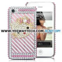 Buy cheap Super Quality Hello Kitty Diamond Rhinestone Hard Case Cover For iPhone 4 (Pink/Silver) from wholesalers