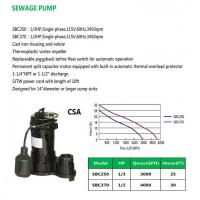 Buy cheap SEWAGE PUMP SBC250 SBC370 product