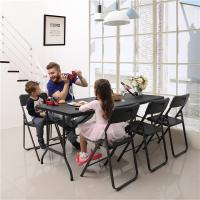 Buy cheap Large Load Capacity Foldable Table And Chairs Black Color Eco Friendly Weatherproof from wholesalers