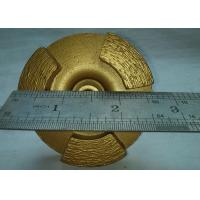 Dia.67mm Concrete Floor Diamond Grinding Disc Wheel , Alloy Diamond Polishing Disk