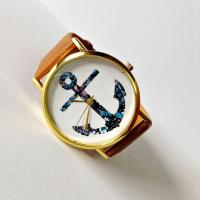Buy cheap Fashion Anchor Nautical Vintage Style Leather Watch from wholesalers
