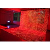 Buy cheap Waterproof Soft LED Screen , Led Mesh Flexible Curtain Screen For Concert Background from wholesalers
