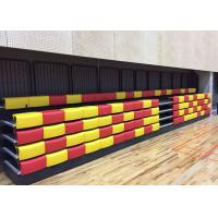 Anti Slip Plywood Retractable Bench Seating Blow Molding For Arena / School