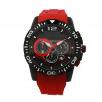 Buy cheap Multifunction Red Silicone Strap Watches Sport Wrist Watch OEM from wholesalers