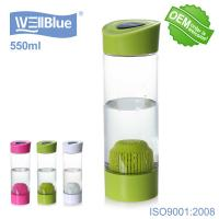 China Potable PET Alkaline Water Filter Bottle 550ml Capacity Eco Friendly Daily Use on sale