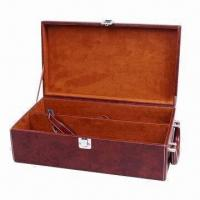 Buy cheap PU Leather Wine Gift Box with One Bottle, Elegant Classic Design and High Quality from wholesalers