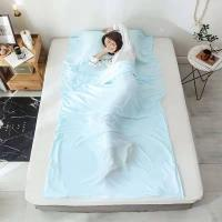 Buy cheap Silk Material Rectangular Sleeping Bag Liner Portable With Pillow Pocket from wholesalers
