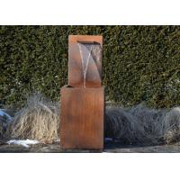 Buy cheap Professional Corten Steel Garden Water Features Fountains 150cm Height from wholesalers