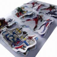 Buy cheap Ultraman 3D layers handmade laser sticker, various designs are available, customized sizes accepted product