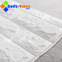Buy cheap White 70x77cm Xpe Foam Wall Stickers 3d Wallpaper 4mm Thickness from wholesalers