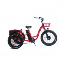 Buy cheap 24 inch green power 48v 500W 3 wheels adult electric tricycle for adults from wholesalers