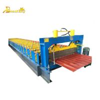 Buy cheap High efficiency reliable capacity full automatic corrugated sheet roll forming machine price from wholesalers