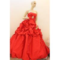 Buy cheap Wholesale Red ruffle Princess Ball Gown floor length wedding gown,bridal dress,party dress from wholesalers
