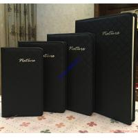 Buy cheap Sewing Leather Personalized Notebook,customized paper notebook, black notebook from wholesalers