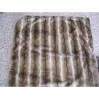 Buy cheap Grade A Faux Fur Blanket Striped Gray Chinchilla With Micro Mink Back from wholesalers