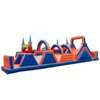 Buy cheap Waterproof Inflatable Fun City Castle Obstacle Course Blow Up Playground Enviroment - Friendly from wholesalers