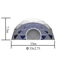 Buy cheap 15m Diameter Geodesic Dome Tent Marquee Greenhouse With White PVC Fabric from wholesalers