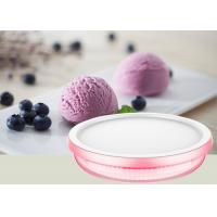 China Miniature Manual Ice Cream Maker Pink Colour Easy Operation LFGB Certificate on sale