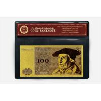 Buy cheap Germany 100 Mark 24k Gold Foil Banknote Plated In 999999 Gold With PVC Frame Base from wholesalers