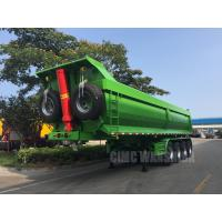 Buy cheap hydraulic tipping trailer 4 axles tipper trailer tipper semi trailer for sale from wholesalers