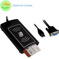 Buy cheap PC and Mobile NFC Card Reader RS232 Contact and Contactless Dual interface Card Reader from wholesalers