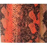 Buy cheap Color Fastness Leather Snakeskin Vinyl Fabric For Shoes / Women Handbags product