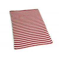 Buy cheap Environmentally Friendly Polyester Baby Blanket Red Stripe 48*48 Weight product