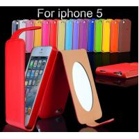 China Colorful Protective PU Leather Wallet Case For Iphone 5 With Korea Style on sale