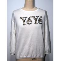 China Combed Cotton Floral Print Sweater With Letters Embroidery BGAX16290 on sale